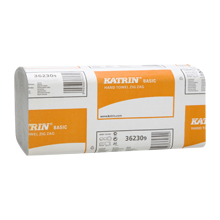 Листовые бумажные полотенца Katrin Basic Zig Zag